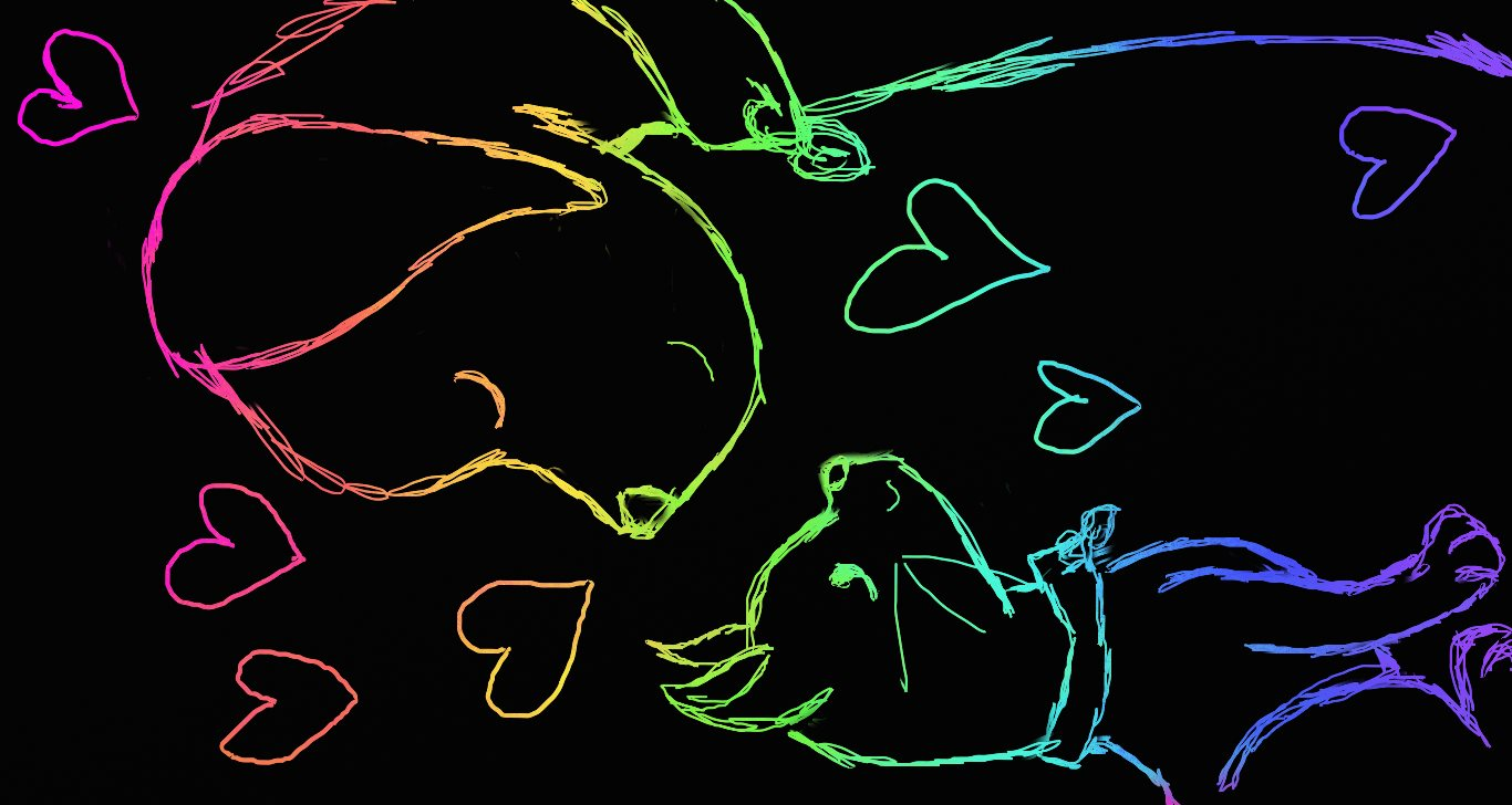 Name Dog And Cat Scratch Art
