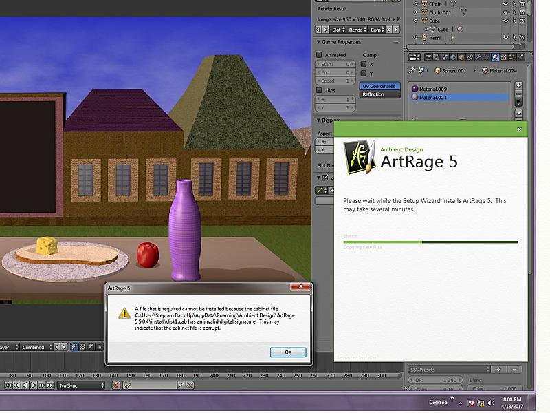 Art Rage 5 Does Not Install On My Windows 7 Professional Operating System