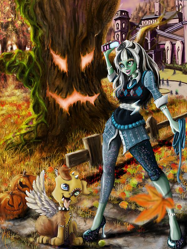 Click image for larger version.  Name:A Ghoul and Her Dog JPEG.jpg Views:112 Size:405.9 KB ID:87860