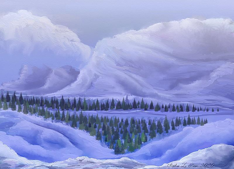 Click image for larger version.  Name:Winter Landscape Scene, Birds Eye View.jpg Views:34 Size:105.2 KB ID:99153