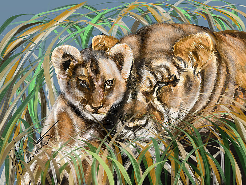 Click image for larger version.  Name:Lioness and cub4.jpg Views:47 Size:513.7 KB ID:88450