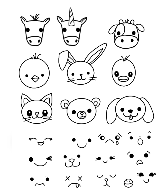 Click image for larger version.  Name:kawaii animal faces.png Views:141 Size:50.9 KB ID:97641
