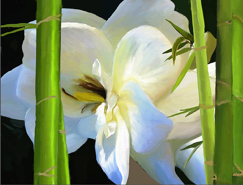 Click image for larger version.  Name:Gardenia in Bamboo (2k).jpg Views:83 Size:294.1 KB ID:92604