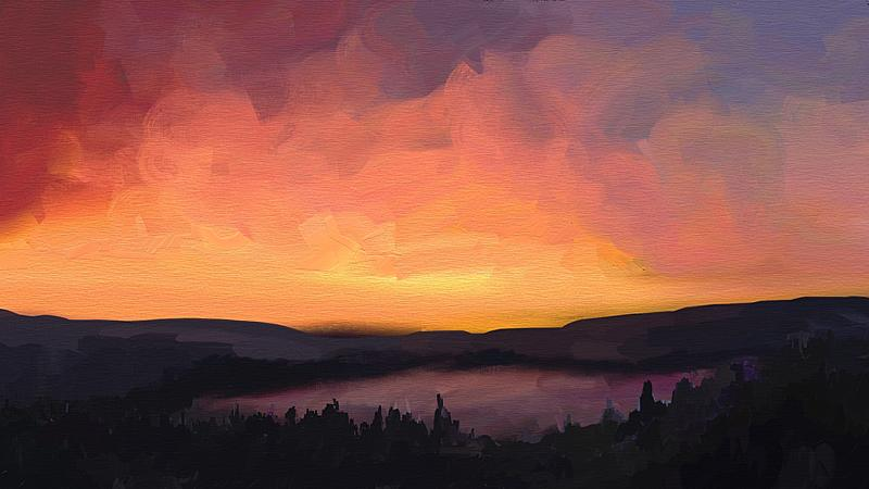 Click image for larger version.  Name:sunset over the trossachs.jpg Views:104 Size:204.6 KB ID:90787