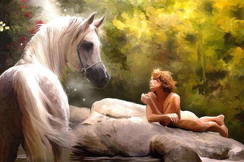 Click image for larger version.  Name:nude girl and horse on the rocks a.jpg Views:93 Size:247.9 KB ID:86129