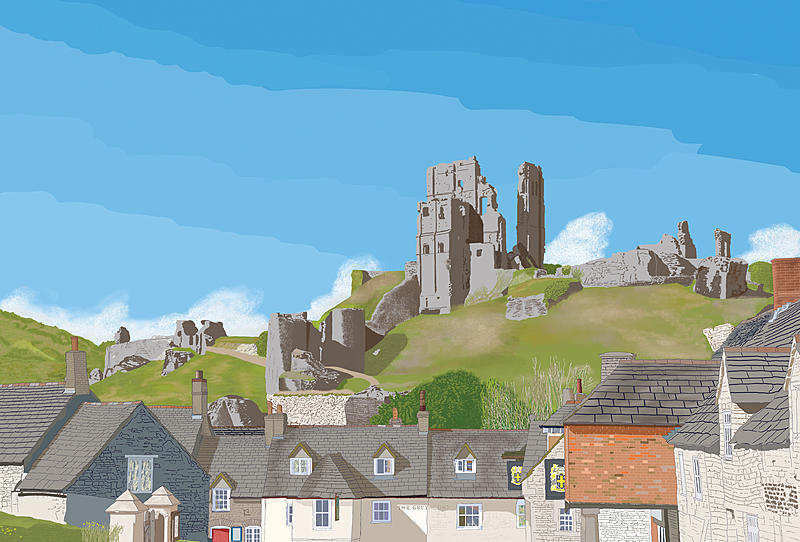 Click image for larger version.  Name:Corfe Castle.jpg Views:10 Size:345.5 KB ID:98256