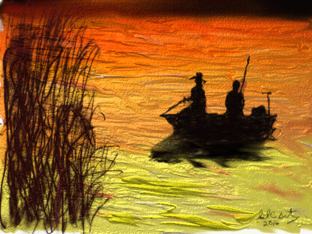 Click image for larger version.  Name:Fishing At Sunset.jpg Views:21 Size:71.1 KB ID:95794