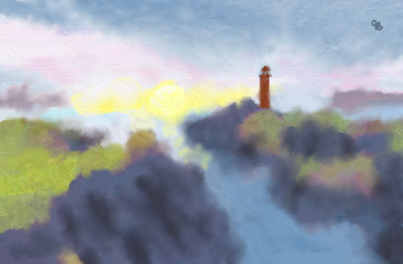 Name:  Lighthouse on Shore adj.jpg