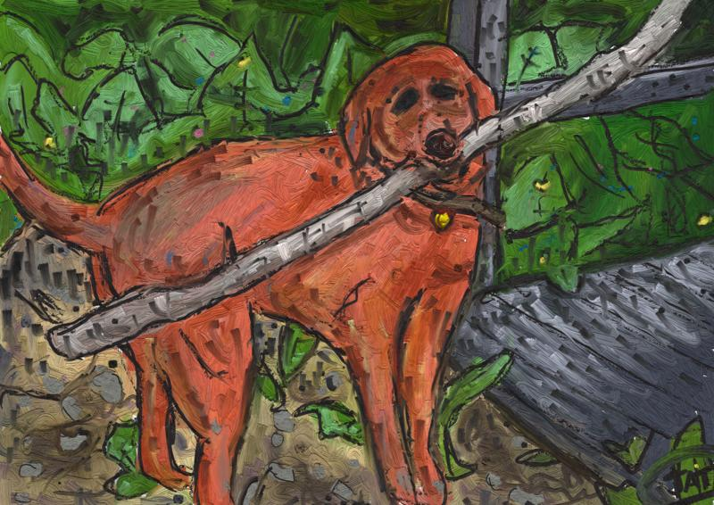 Click image for larger version.  Name:Dog With Giant Stick.jpg Views:6 Size:489.9 KB ID:97895