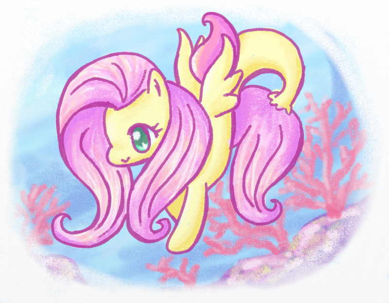 Name:  fluttershy seapony B.jpg