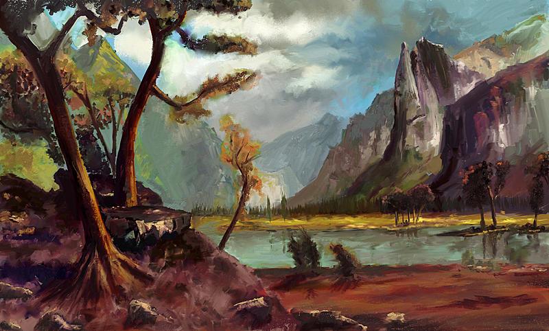 Click image for larger version.  Name:Albert Bierstadt - Yosemite Valley1-5-1536.jpg Views:21 Size:226.1 KB ID:101811