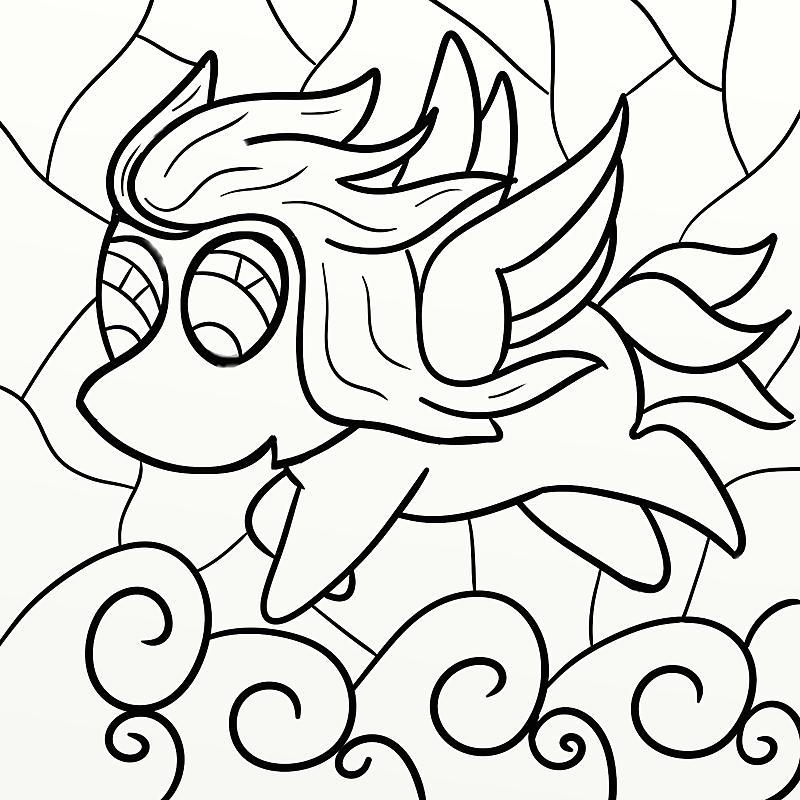 Click image for larger version.  Name:Pegasus line art.jpg Views:23 Size:182.0 KB ID:94327