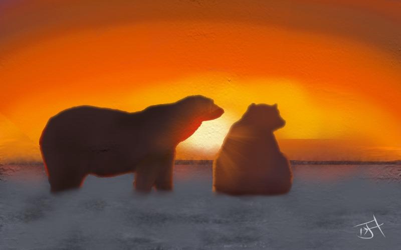 Name:  Polar bears at sunset.jpg Views: 215 Size:  193.9 KB